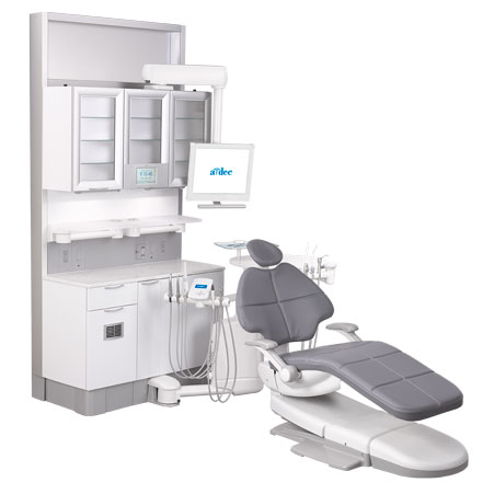 A-dec 500 dental chair with real dental delivery system