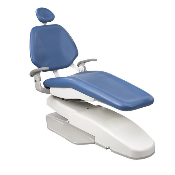 A-dec 200 dental chair in patient entry and exit position