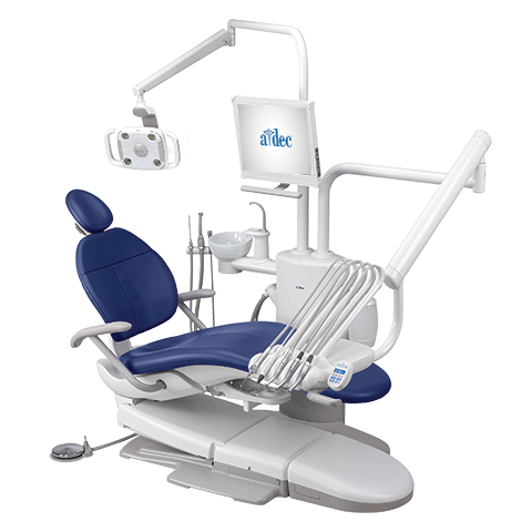 A-dec 300 dental chair with pedestal operatory package