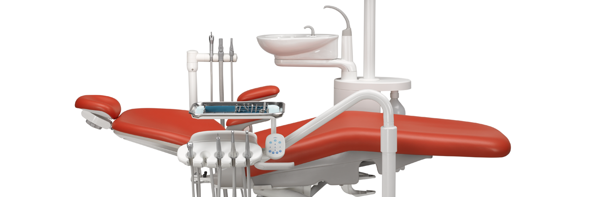 Performer dental chair in paprika