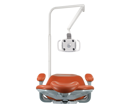 A-dec performer dental chair with dental light