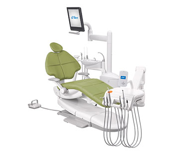 A-dec 500 radius dental equipment package with Parrot upholstery thumb